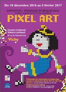 Pixel Art et Briques Lego® @ Centre Culturel Valery-Larbaud - Vichy