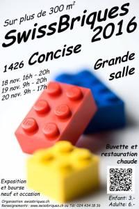 Swissbriques Concise 2016 - Exposition 100% LEGO® @ Grande Salle - Concise (Suisse)