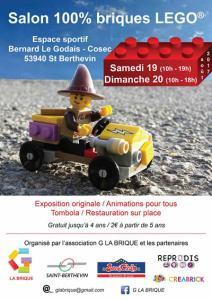 Exposition 100% LEGO® G LA BRIQUE 2017 @ Espace sportif Bernard Le Godais (COSEC)
