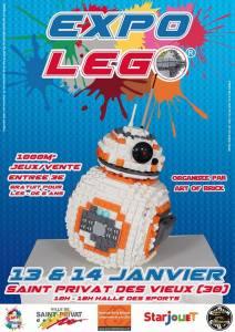 Exposition 100% LEGO® @ Hall des Sports de Saint Privat des Vieux