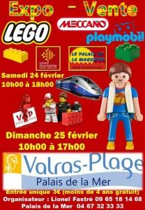 Exposition Vente LEGO®, Playmobil® et Meccano® @ Palais de la Mer à Valras-Plage
