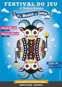 """Festival du jeu d'Alsace Bossue """"la Bosse en Jeux"""" @ Salle de la corderie - Sarre-Union"""