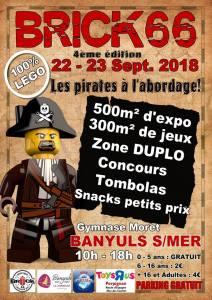 Exposition 100% LEGO® Brick 66 2018 @ Gymnase Moret - Banyuls sur Mer
