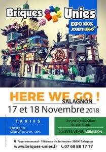 Exposition 100% LEGO® BRIQUES UNIES SALAGNON 2018 @ Foyer communal Salagon