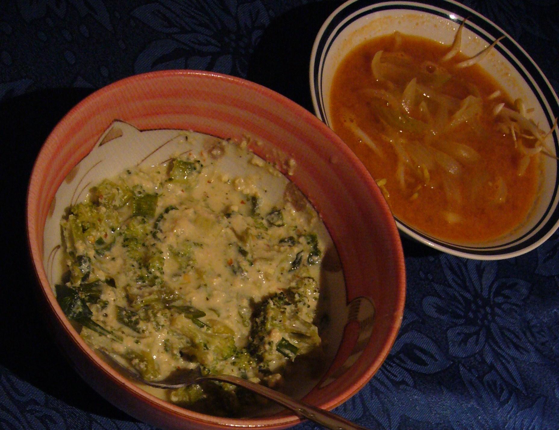 Broccoli with tofu sauce