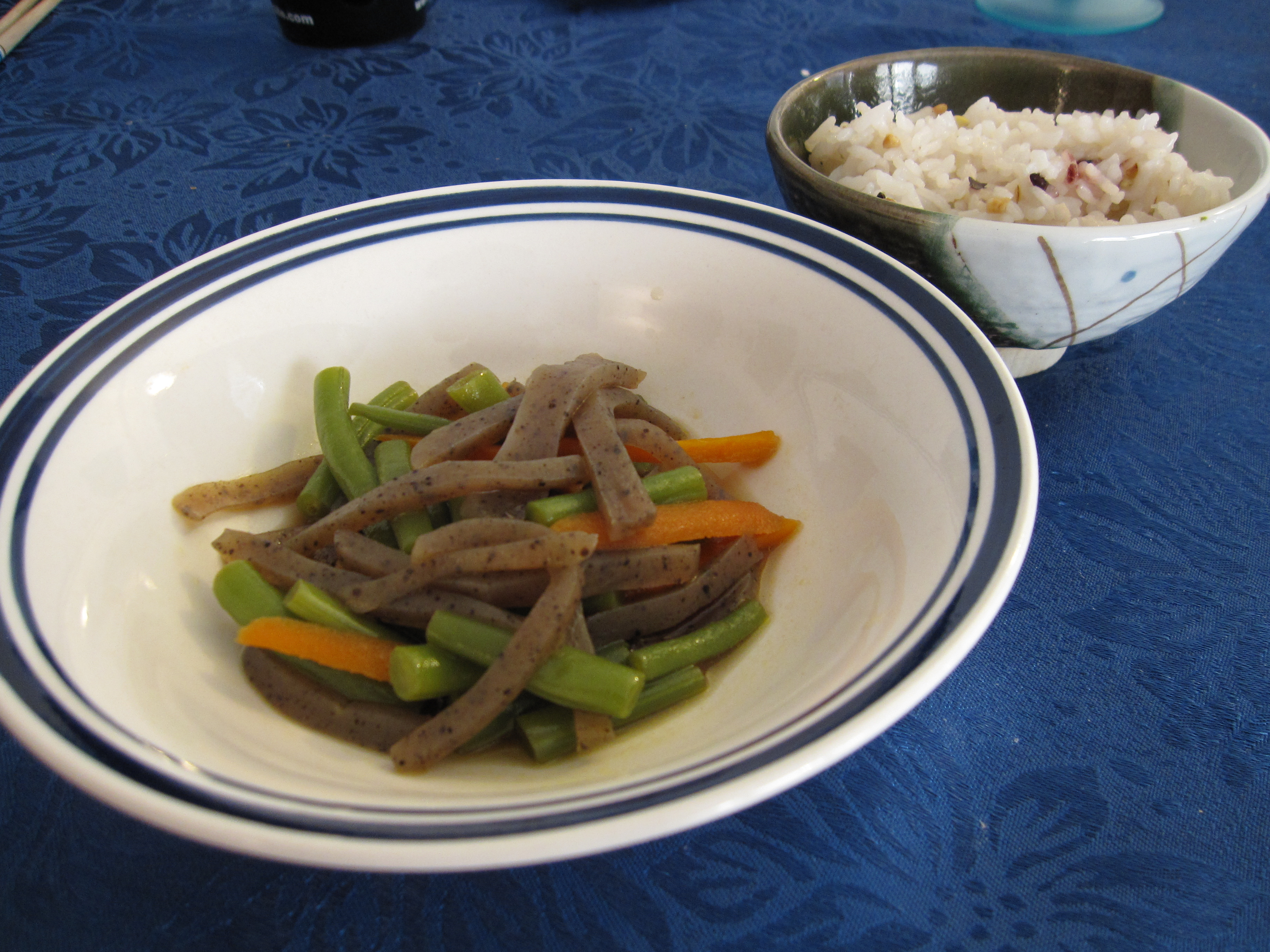 Green beans-konnyaku-carrots