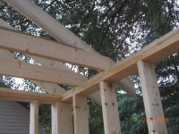 Rafters and Joists   Church of the Holy Family Clothing Shed