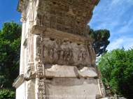 Inside the Arch of Titus