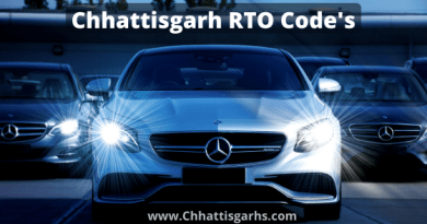 Chhattisgarh rto code list