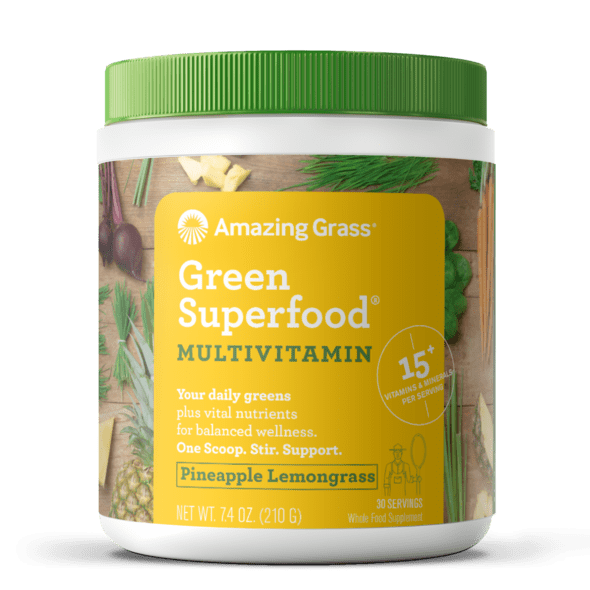 Amazing Grass Superfood Multivitamin vị Pineapple Lemongrass