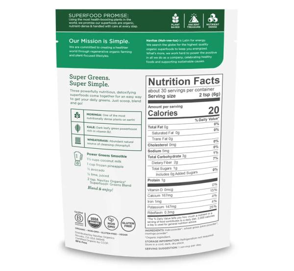 superfSuperfood+ Greens Blend Nutritionood++ (2)