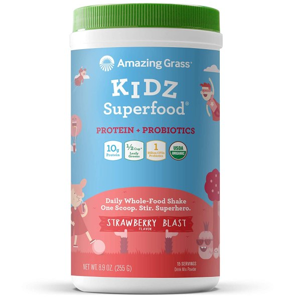 Amazing Grass Kidz Superfood Protein Strawberry Blast