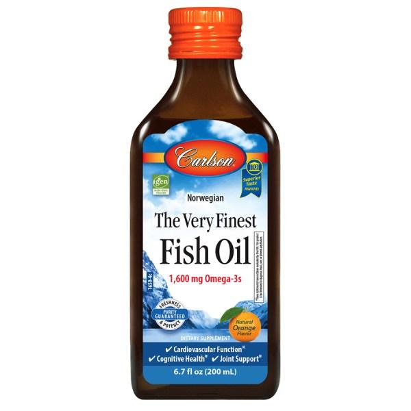 Dầu cá tươi nguyên chất Carlson vị cam