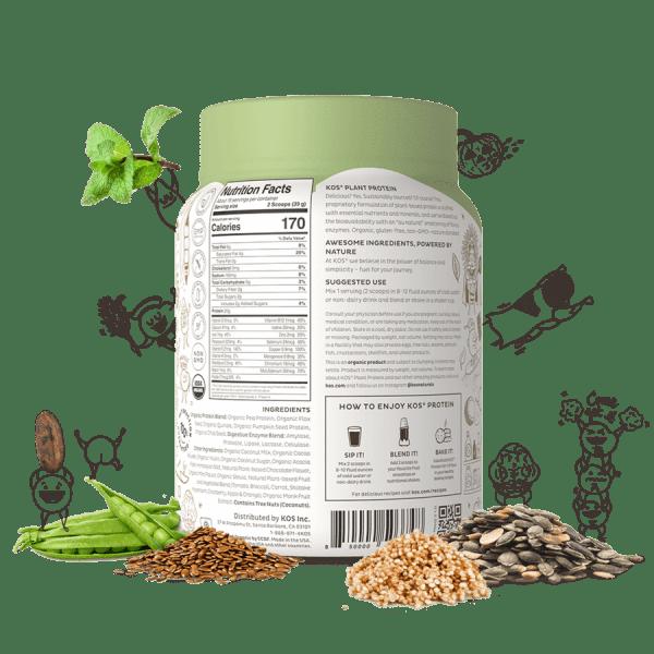 Kos Organic Plant Protein Chocolate Chip Mint