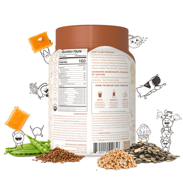 Kos Organic Plant Protein Salted Caramel Coffee