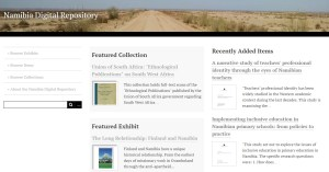Screenshot of the Namibia Digital Repository