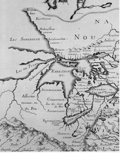map of michigan 1600's