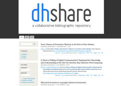 DHShare: A Collaborative Bibliographic Repository
