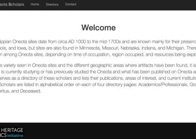 Directory of Oneota Scholars