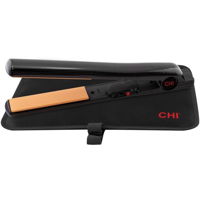 "chi tourmaline ceramic hairstyling onyx black iron 1"""