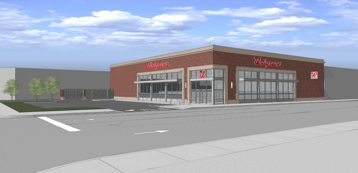 c487ebea2f1 Walgreens wants to build this single-level store and corner parking lot in  place of