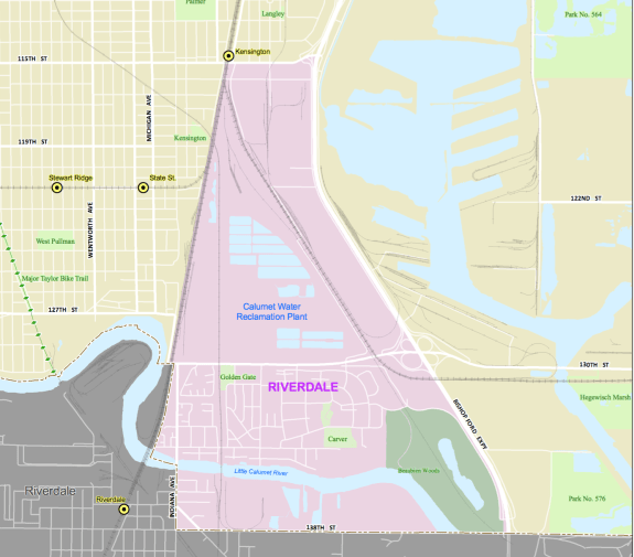 Map of Riverdale community area
