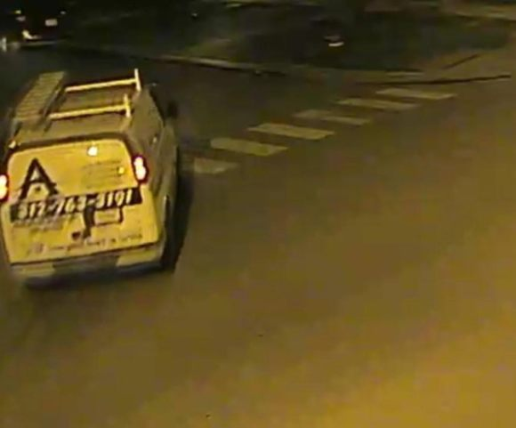 The Chicago Police Department provided this image of a commercial cargo van that struck Francisco Cruz Wednesday night.