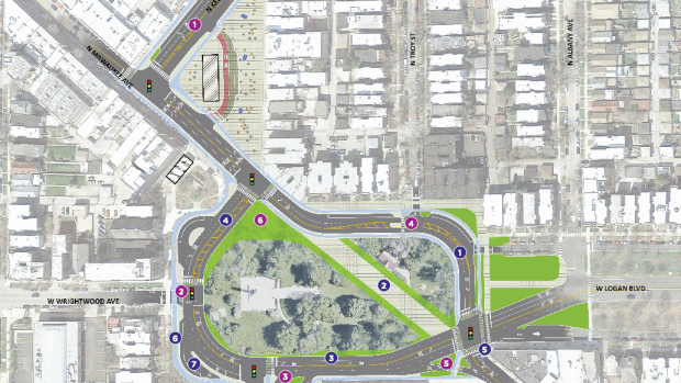 Residents Weigh in on CDOT's Latest Logan Square Designs