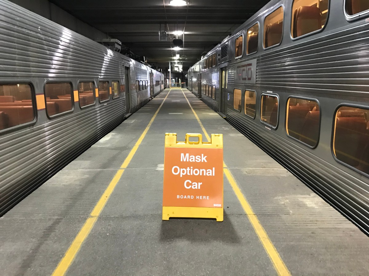 photo of Idiocy or genius? The South Shore Line tries quarantining anti-maskers in a separate car image