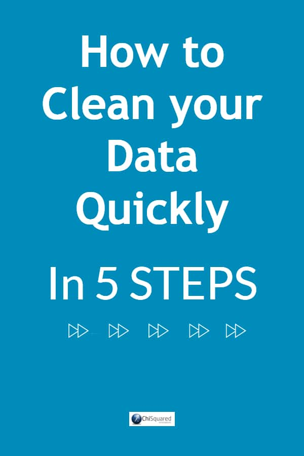 Hate data cleaning? Learn the 5 steps to get your data clean and ready for analysis quickly #datatips #datacleaning #cleandata