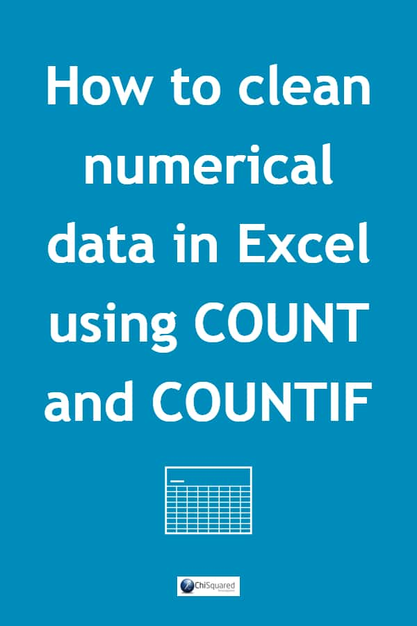 In this blog post we're going to take a look at just 2 Excel formulae – COUNT and COUNTIF – to show what they can tell us about numerical data. #datatips #exceltips #datacleaning