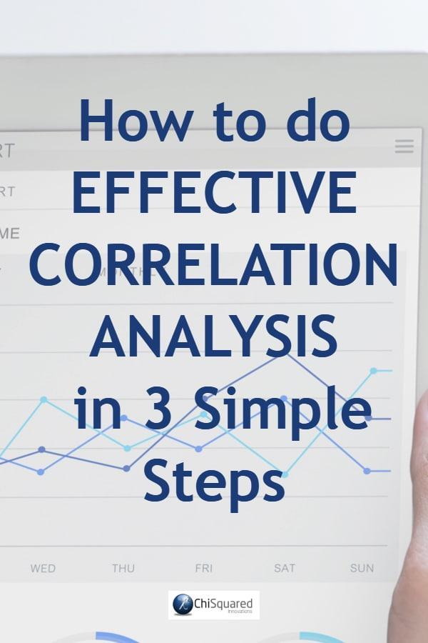 How to do effective correlation analysis in 3 simple steps. #correlationanalysis #statistics #dataanalysis