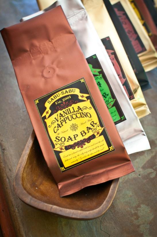 Coffee and tea soaps by Sabu-Sabu