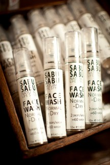 Travel-size face wash by Sabu-Sabu