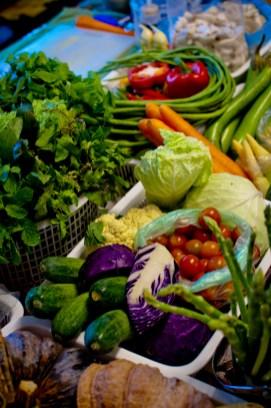 Organic ingredients at Anchan Vegetarian