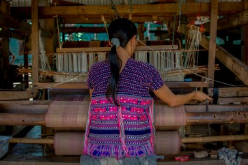 A weaver in Mae Sariang