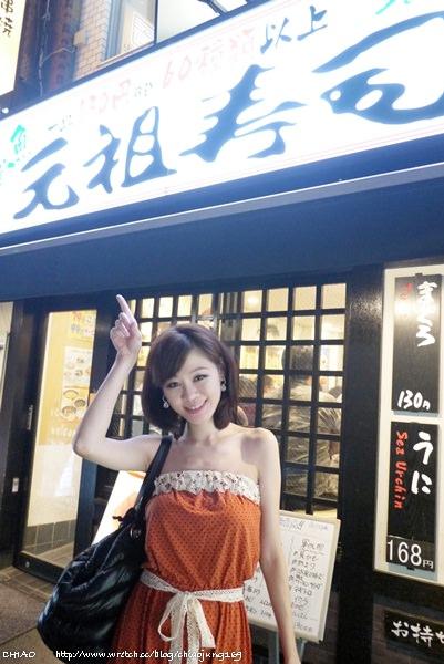 東京【元祖寿司 新宿西口店】都到日本了,怎麼可以不吃迴轉壽司哩 !