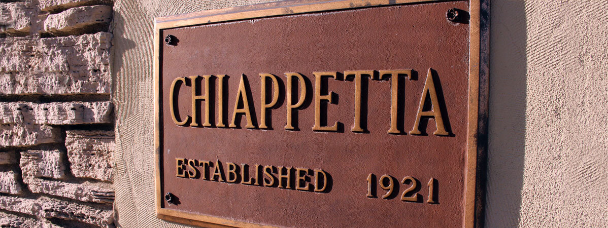 Sign on exterior of Chiappetta Shoes