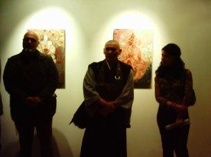 Con il Maestro F. Taiten Guareschi alla Galleria Marco Rossi, Verona