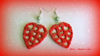 orecchini in fimo cuori san valentino