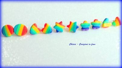 orecchini da lobo rainbow