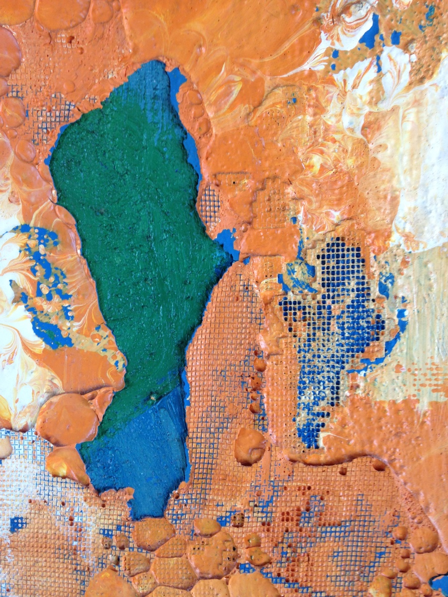 glimpse (detail), abstract acrylic painting on canvas board