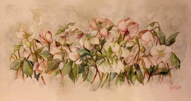 Le tinte delicate di questi acquerelli ci regalano l'illusione della primavera anche nella stagione invernale.