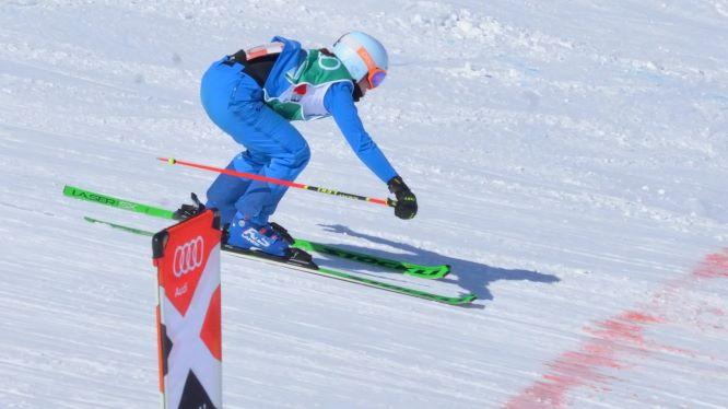 Audi Skicross Tour Melchsee Frutt 28.03.2021 - 1. Rang Chiara von Moos