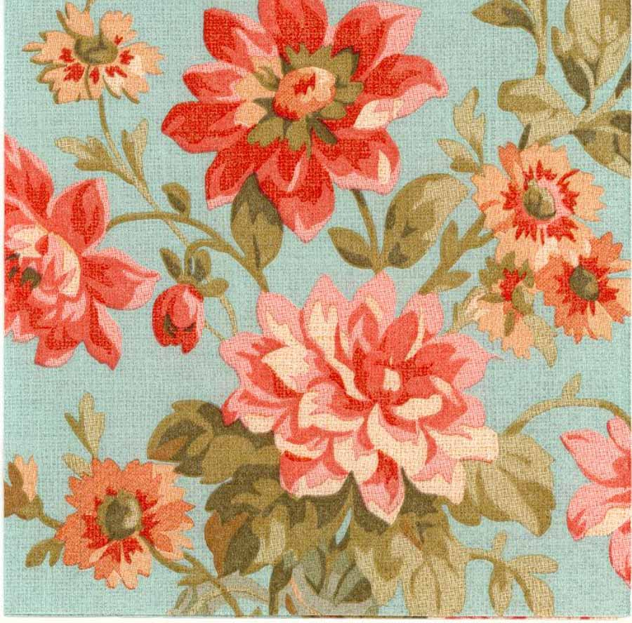 Decoupage Paper Napkins Of Pink And Red Dahlias Cocktail