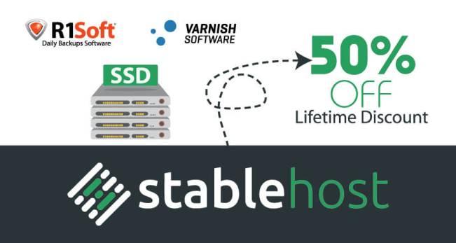 StableHost Coupon tháng 4 – Giảm giá 50% trọn đời Hosting