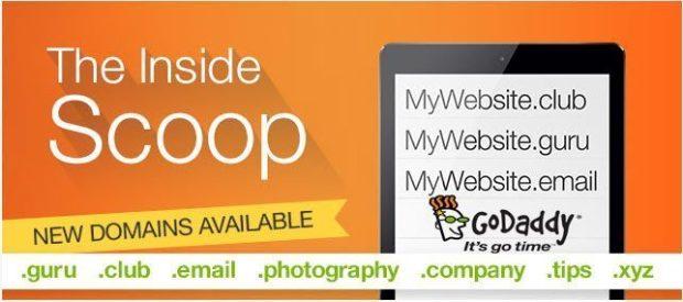 GoDaddy coupon tháng 4 giảm giá 405 tên miền mới