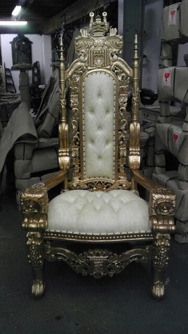 Gold Throne chair rental los angeles 8186364104