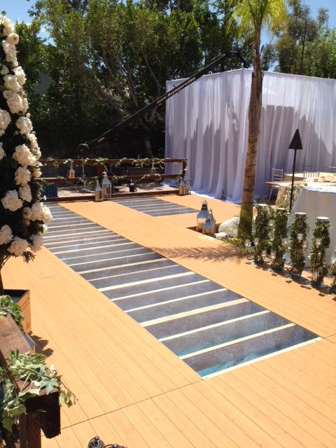 Plexi Glass Dance Floor Pool Cover Rental Los Angeles 818