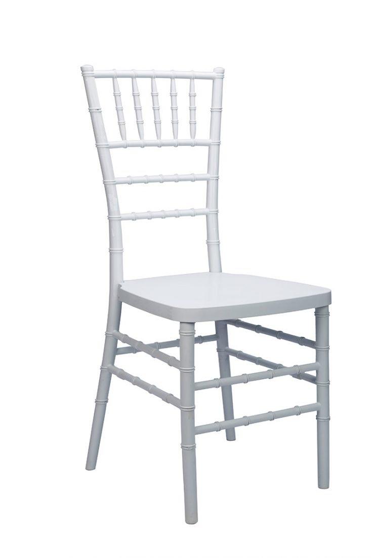 White Resin MonoFrame Chiavari Chair  The Chiavari
